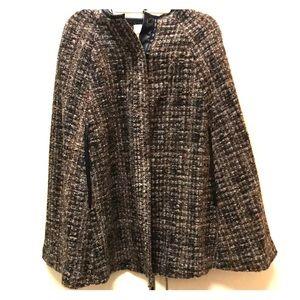 Zara knitwear tweed cape